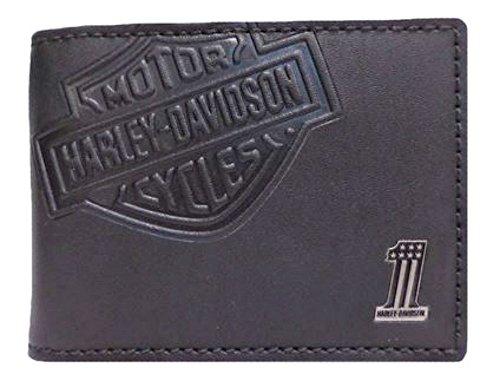 Harley-Davidson Men's Embossed Bar & Shield Cash Clip Wallet