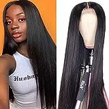 Parrucche lace front parrucca donna capelli Umani veri 150% Density Straight Dritti Brasiliani Glueless Lace Front 4X4 Chiusura Parrucca Pre Plucked 18 pollici