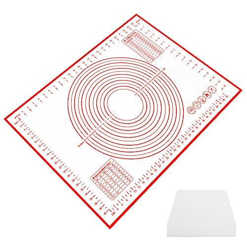 Auckpure Backunterlage Matten für Fondant Plätzchen, Backmatte, 70x50cm Silikon Backmatte, Kann Wiederverwendet Werden Backmatte Silikon, Teigmatte für die Küche, Backmatte Groß