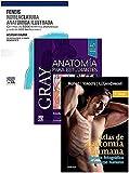 Lote GRAY Anatomía para Estudiantes + FENEIS Nomenclatura Anatómica Ilustrada + ROHEN Atlas de Anatomía Humana