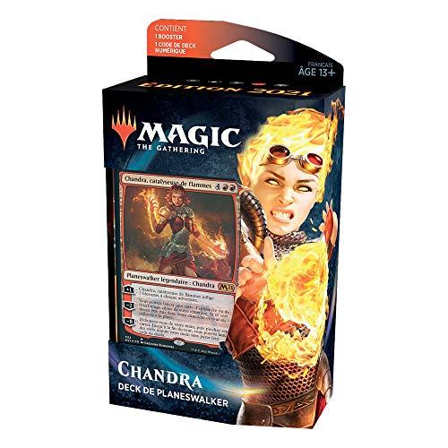 Magic The Gathering Deck di Planeswalker Chandra, Catalizzatore di fiamme, Edizione base 2021, C76581010