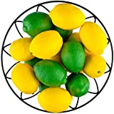 Toopify 20 PCS Artificial Lemons and Limes, Fake Fruit Lemons Artificial Lifelike Simulation Lemon for Home House Kitchen Party Decoration, 3'' X 2''