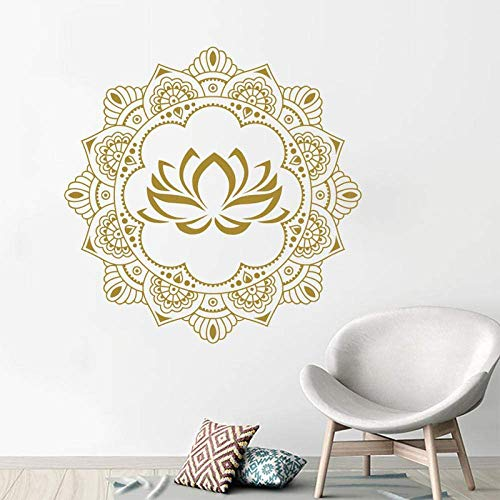 Mandala Wandtattoo Yoga Studio Wand Vinyl Aufkleber Dekoration Lotus Aufkleber Selbstklebende Tapete 57 * 57C M.