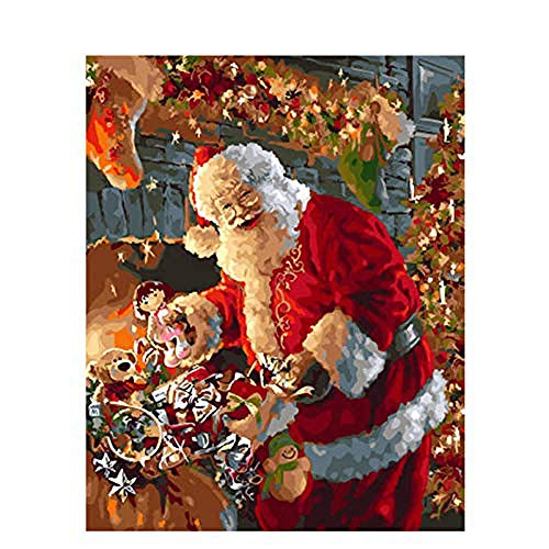CJSZSD Paint by Number Kits Santa Claus DIY Digital Canvas Oil Painting Gift for Kids,Students,Adults Beginner 16x58 inch(No frame