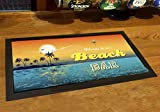 Artylicious Alfombra de bar de playa, tropical, cóctel, tiki bar...