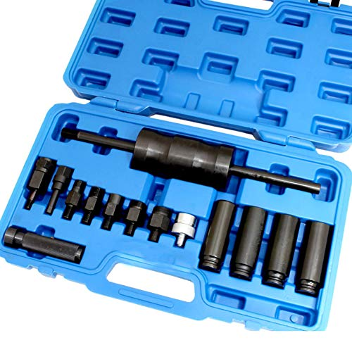 UTMALL 14pc Diesel Common Rail Injector Puller Extractor Kit for Bosch Delphi Siemens Denso