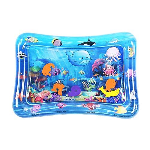 Wassermatte Baby wassergefüllte Spielmatte Wasserspielmatte Spielzeug aufblasbare Baby Bauchzeit Matte 66 x 50cm für Baby ab 3 6 9 Monate (Unterwasserwelt)