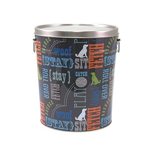 Paw Prints Tin Food Bin Wordplay
