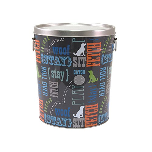 Paw Prints 15 pond doos PET Food Container, Wordplay Design, 26,4 x 29,8 x 26,4 cm (37581)