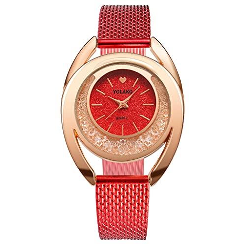 CXJC Relojes Decorativos para Mujer en una Variedad de Colores. Un Amor Reloj de Cuarzo Dial de Amor. Material plástico Respetuoso con el Medio Ambiente (Color : UN)