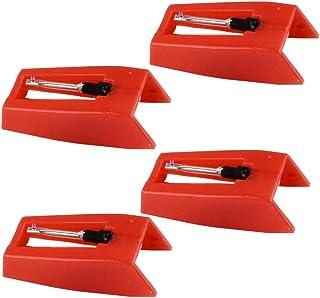 HNYG - Aguja de repuesto para tocadiscos (4 unidades, puntero de diamante)