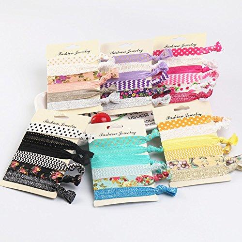 Home4Garden - Lote de 36 cintas elásticas para el pelo para niñas y mujeres, bandas para el cabello, pulseras para fiestas, regalos de cumpleaños.