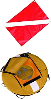 SM SunniMix Safety Freediving Buoy - Water Buoyant Floating Inflatable Float with Diver Down Boat Flag for Technical Scuba Diving Gear Equipment