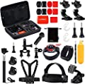 Luxebell Outdoor Sports Camera Accessories Kit for Gopro Hero 6 5 Session 4 3 2 Sjcam DBPOWER AKASO Apeman Xiaomi Yi by Luxebell