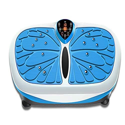 ACEWD Plataforma Vibratoria 3D para Adelgazar Y Relajar Músculos, Fitness Vibration Platform con Control Remoto 3 Programas+99 Niveles Cargables hasta 150 Kg,Azul