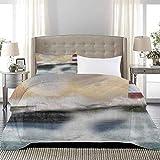 UNOSEKS LANZON - Juego de funda de edredón para cama de hotel, diseño de tormentoso mar salpicaduras, luna y faro