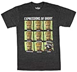 Guardians of the Galaxy Mens T-Shirt - The Many Expressions of Groot (Large)