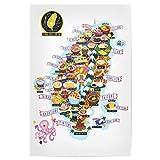 artboxONE Poster 60x40 cm Reise Taiwan Street-Food Map