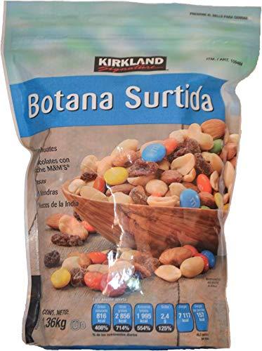 Kirkland Signature Botana Suritida, Cacahuates, Pasas, Almendras, Nueces de la India, Chocolates M&M'S