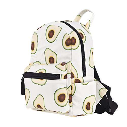 JameStyle26 Mochila infantil con estampado de flamenco y donut para guardería, conejo, tiempo libre, mochila escolar, mochila para niña, niño, melón, aguacate