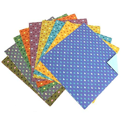 Milopon 30x Origami Papier Craft Paper 10 Origamipapier Faltpapier für Kinder 15x15cm