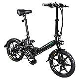 GoZheec FIIDO D3S Ebike - Vélo électrique Pliant de 7,8 Scooter électrique de 16 Pouces avec Phare à LED Pédales Frein à Disque, jusqu'à 25 km/h pour Adulte (Noir)
