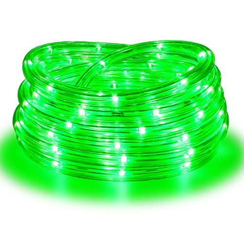 Rope Lights, 16Ft Waterproof Connectable Strip Lighting Green, Indoor Outdoor Mood Tube Lighting for Home Christmas Holiday Garden Patio Party Decoration