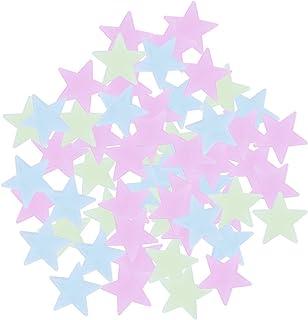 BESTOYARD 100pcs Glow in The Dark Stars Wall Stickers Luminous Ceiling Stars Stickers for Baby Kids Children Room Decor (C...