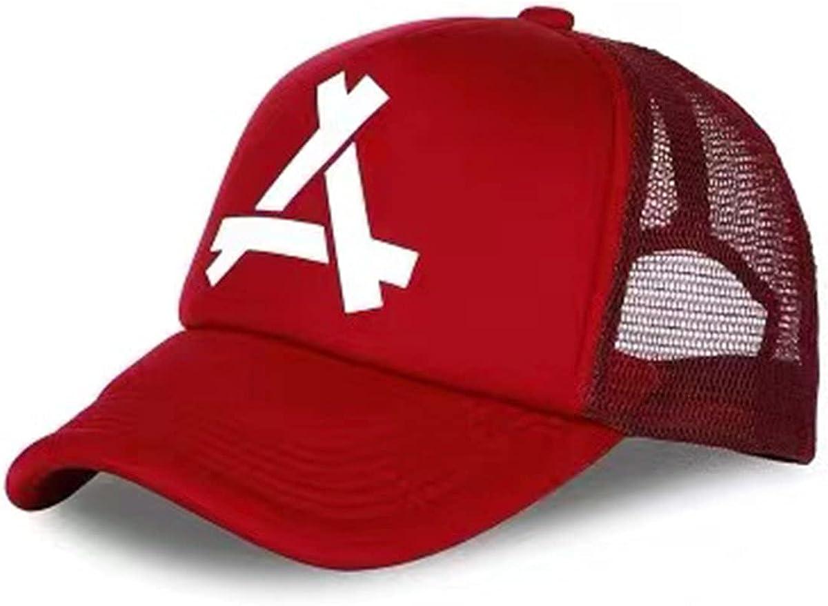 Fashion Unisex Hip-Hop Baseball Cap Adjustable Snapback Hat Sport Casual Letter Sun Hat Fits All Red