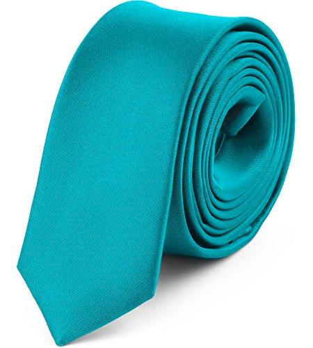 Ladeheid Herren Schmale Krawatte SP-5 (150cm x 5cm, Türkis)