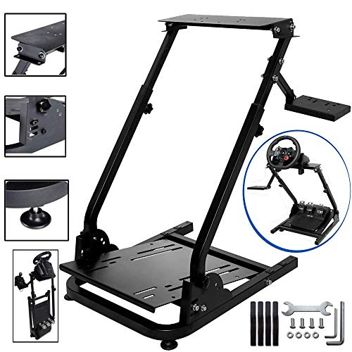 CINGO Racing Wheel Stand Height Adjustable Steering Wheel Stand Logitech for G25, G27, G29, G920 Driving Simulator Cockpit Wheel & Pedals Not Included