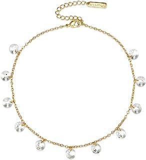 MESTIGE Women's Golden Marina Anklet with Swarovski Crystals (MSAK3015)