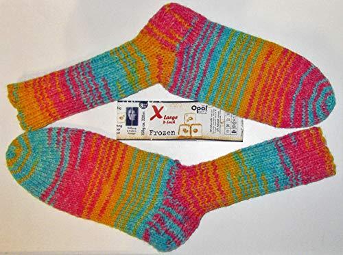 Selbstgestrickt/Handgemacht/Socken/Wollsocken/Gr. 38 / Damen/Herren/Wintersocken/Warme Socken/Opal -