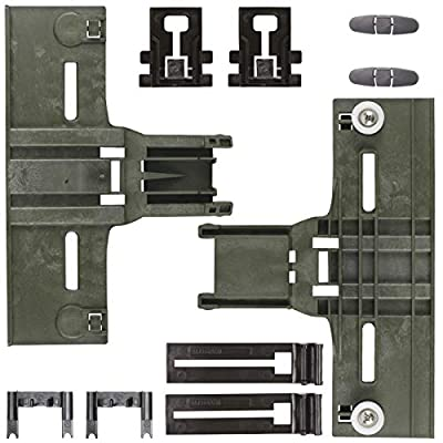 Upgraded 10 Pcs New Polymer Material Dishwashers Adjuster Kit W10350376 Dishwasher Top Rack & W10195840 & W10195839 & W10250160 & W10508950 Fit for Whirlpool Kenmore Dishwashers