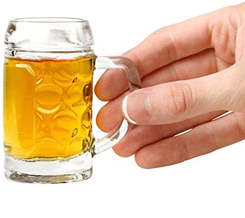 Circleware Tavern Minitazas caballitos, juego de 6, 39.92 ml, transparente, edición limitada, bebidas de whisky