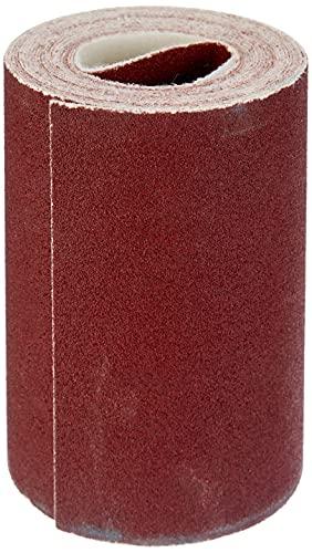 Wolfcraft 1740000 (L) rollo papel abrasivo, con velcro auto-adhesivas, grano 80 PACK 1, 4mx115, plata