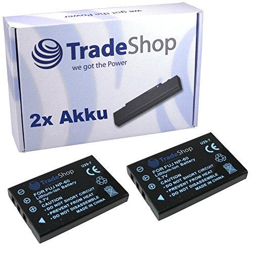 2x Hochleistungs Kamera Li-Ion Akku für Aiptek AHD H-350 AHD H-500 AHD AF-1 Digimio T6-HD SeeMe HD BenQ DV-M-23 Casio QVR-3 QVR-4 Creative Divi Cam 428 Kodak Easyshare LS-633 LS-420 LS443