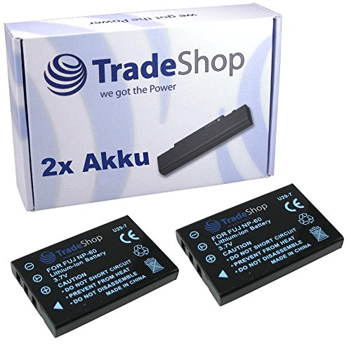 2x Hochleistungs Kamera Li-Ion Akku für Yakumo Cam-Master SD-482 ersetzt Toshiba PX1657 PX1657E-1BRS Kyocera Yashica BP-1500s BP1500s Lawmate RD2400A-BAT
