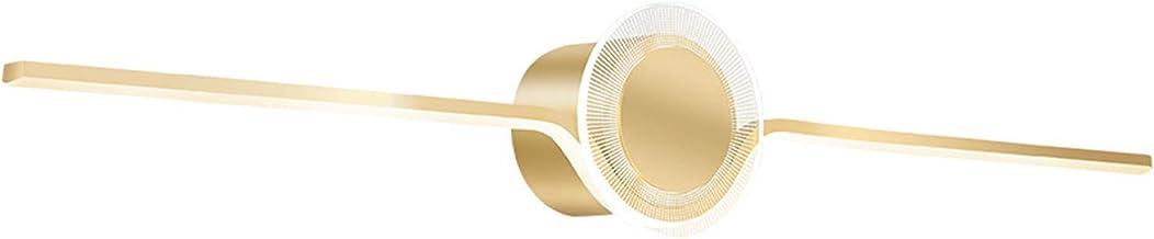 ZYLZL Gouden decoratieve LED-wandlampen voor de badkamer met acryl lampenkap, 3 kleurtemperaturen, moderne spiegellamp voo...
