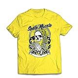 lepni.me Camisetas Hombre Nuestra Señora de la Santa Muerte - personificación Mexicana de la Muerte (X-Large Amarillo Multicolor)