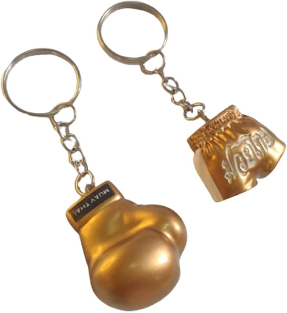 Honeybeloved Keychain Boxing Glove Pants for Men Mini Hanging Decoration Keychains Resin Souvenir Key Ring Car Room Home Keyrings Kick Boxing Mua Sport Gift Car Room Home Office Cumulative Gold