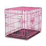 Petmate Puppy 2-Door Training Retreat Crate, Pink, 24', for Dogs 15-30 Lbs. (41287)