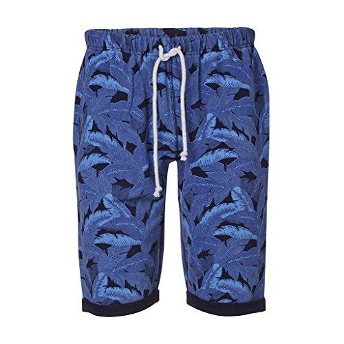 KNOWLEDGE COTTON APPAREL - - Uomo - Short Jersey Imprimé Feuillage Bleu pour homme -