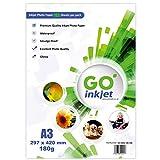 GO Inkjet A3 Papel fotográfico brillante, 180 g/m², 100 hojas más 5 hojas extra