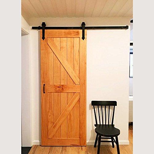 IKAYAA Herraje para Puerta de Corredera de Madera Instalación de Puerta