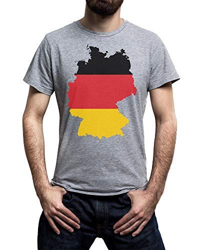Damen T-Shirt FAN FLAG FLAGGE FAHNE Deutschland Germany Allemagne D Fußball