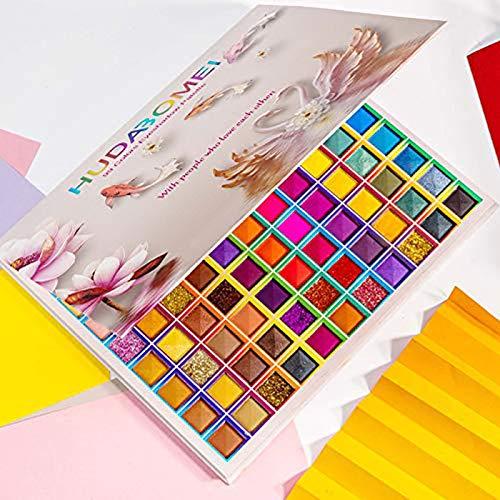 Paleta de sombras de ojos de 99 colores, paleta de sombras de ojos rechoo rainbow colors fusion, paleta de maquillaje profesional con brillo mate, sombra de ojos en polvo de colores de larga duración