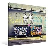 バンクシー おもらしっ子 アートパネル 正方形 キャンバス絵画 インテリア 壁飾り フレーム装飾画 玄関 インテリア モダンアート 木枠セット30*30cm