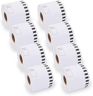DK 2205 Label Roll Labels dk2205 Compatible Continuous White Paper Multipurpose Cut-to-Length Labels for QL-500 QL-550 QL-560 QL-570 QL-580N QL-700 QL-720NW QL-1050 [8 Rolls, 2-3/7
