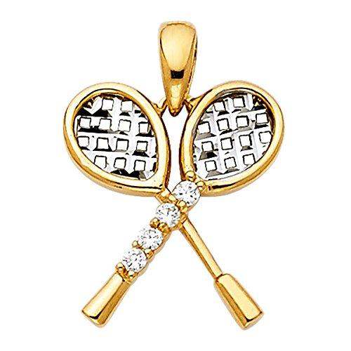 Top Gold & Diamond Jewelry Anhänger Tennisschläger 14 Karat (585) Gelbgold